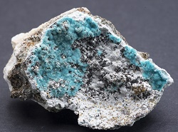 Aurichalcite, Golconda Mine, Brassington, Derbyshire, Specimen No. 1427