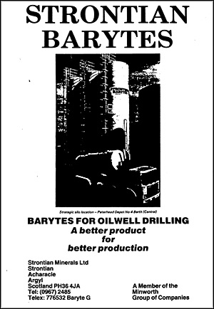 Advert for Strontian barite, 1984